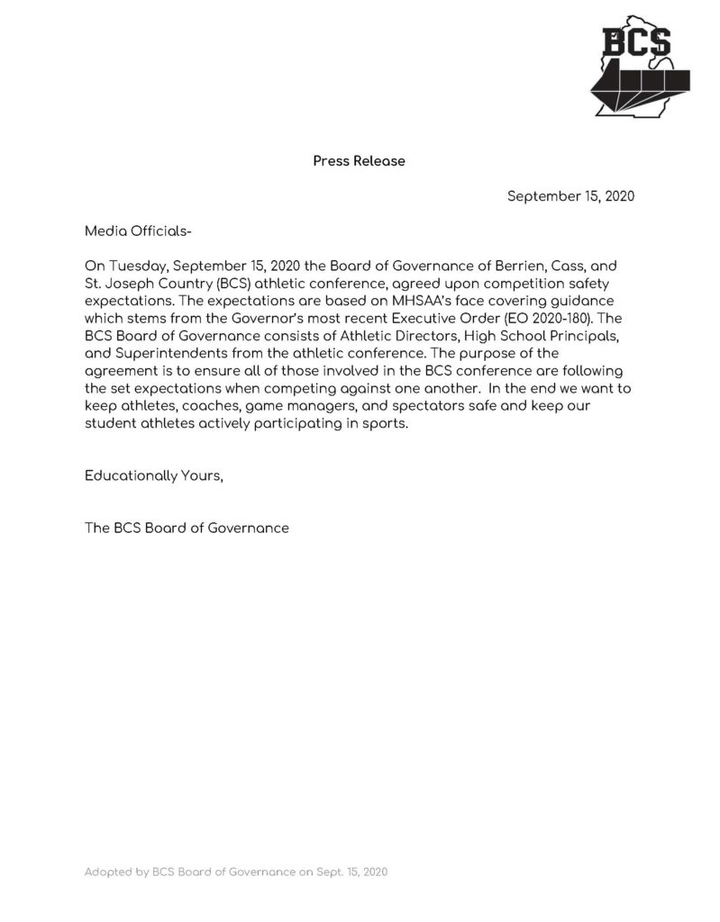 Press Release from the BCS Board of Governance
